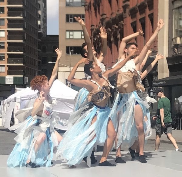 Artichoke Dance performs at Summer Streets in New York City